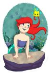 Young Ariel and Baby Flounder by chronicdoodler