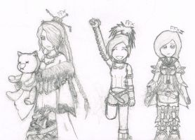 Final Fantasy characters by LittleCrabby