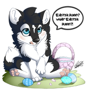 Easter Husky by Flame-Expression