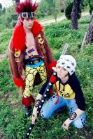 Eustass Kidd n Trafalgar Law by Shiraku-sanji