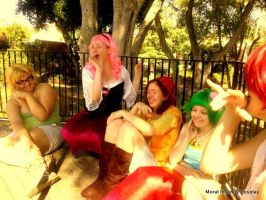 the sweet sunshine of the laughter amongst friends by SasuInsanity