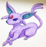 Eeveelution- Espeon by MousieDoodles