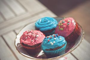 Colourful Cupcakes by victimofemotion