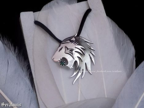 'Lionheart', sterling silver pendant SOLD by seralune