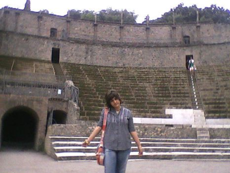 Me in the amphitheater by RosTheElphe