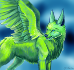 AT: GaelicKitsune ~Verdant~ by EternalDragoness