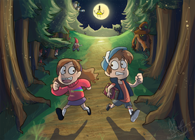 Gravity Falls by Nin-Wolf