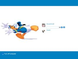 Donald Duck Login by JJ-Ying