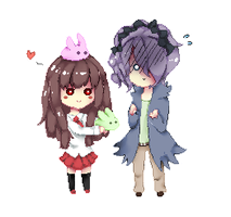 Ib And Garry pixel by Aoi-chan01