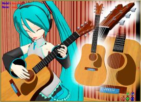 MMD Folk Guitar Accessory Ready to Download by ReggieDentmore