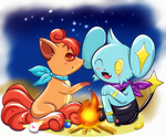 Shinx y Vulpix para humphreywolf2012 by Diegoxpoke