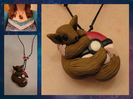 Eevee Necklace by LittleBachman