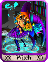 The little Witch Card by animesock52