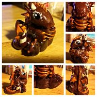 Chocolate dragon with Truffle by LittleCLUUs