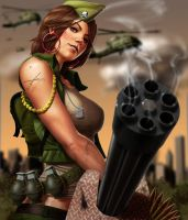 Gatling Girl by superhawkins