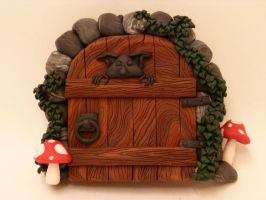 Shrooms and Ivy Fairy Door by FlyingFrogCreations