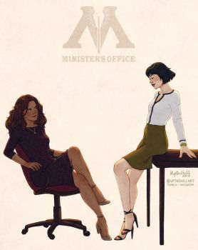 Minister's Office by upthehillart