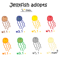Jellyfish adoptables 2 by ChammiBee