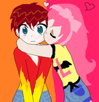 Kai and Luka ~Kawaii Chibi Kiss~ by CutiePieNinja72