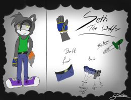 Seth The Wolfox - new look by LeslieElena19