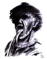Freddy  Krueger Tongue paint and brush by DougSQ