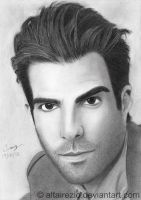 Zachary Quinto -Sylar or Spock by altairezio