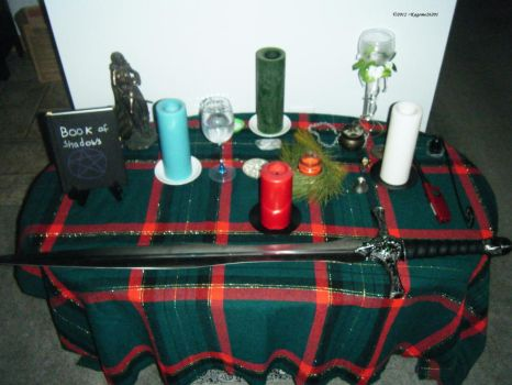 Yule altar by Kagome26201