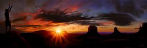 Welcoming The Sun by wendelin