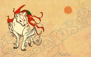 Okami by sketchinthoughts