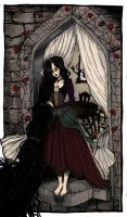 Rapunzel, Rapunzel Let Down your Raven Hair by LaraBerge