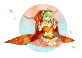 GUMI in Spring by amy30535