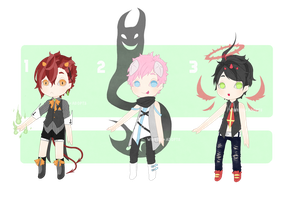 Demon Boys Adopts [CLOSED] by cherskelle