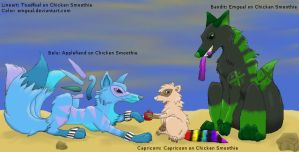 Belu and Bandit VS Capricorn by emgeal