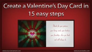 Valentine's Day Card Tutorial by sican