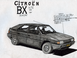 Citroen BX Sleeper by BlackLeatheredOokami