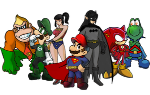 The Justice League of Nintendo by Petertwnsnd
