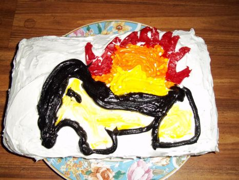 Cyndaquil Cake by Rin00008