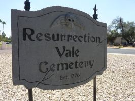 Resurrection Vale Cemetery Sign by thatjonesgirl