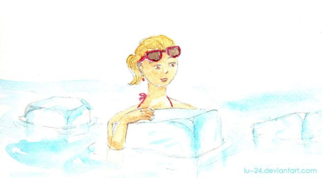 Cooling off, on the rocks by lu--24