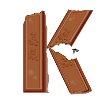 K is for Kit Kat by animedragon67