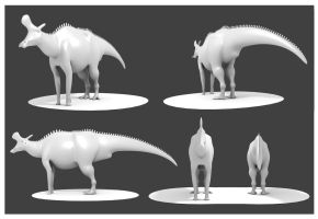 Lambeosarus Model by Julio-Lacerda
