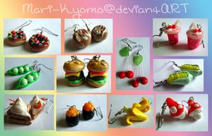 Cute Clay Earrings 2 - FOR SALE by Mari-Kyomo
