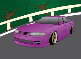 R32 GTS-T Nissan Skyline on the Touge by inizilla