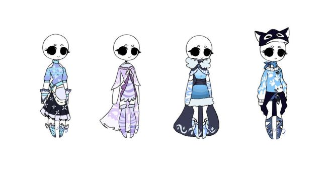 OTA - AdoraBlue outfit adopts - closed by LilLuluna