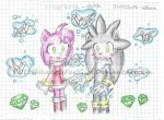 origami birds, emeralds ... and SilvAmy (colored) by POLISHhedgieFanGirl