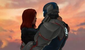 CapXWidow: Romance By Sunset. by WOLFBLADE111