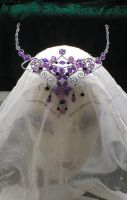 Purple and Silver Fairy Crown by jardan
