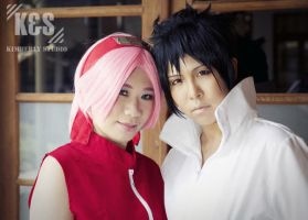 Sasuke and Sakura cosplay by kimberlystudio