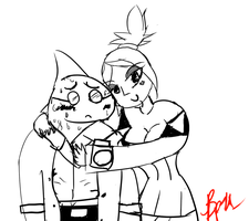 {TomodachiLifeDoodle} Stanley x Cerebella...Yeah. by UniTheLucario
