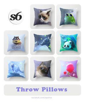 throw pillows II by Apofiss